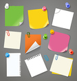 Paper stickers clip-art vector image vector image