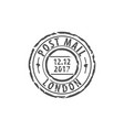post mail london round stamp vector image vector image
