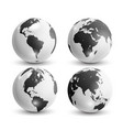 realistic world map in globe shape earth vector image