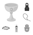 religion and belief monochrome icons in set vector image