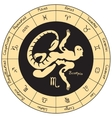 Scorpio with the signs of the zodiac vector image vector image