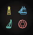sea collection ship and nautical icons in vector image vector image