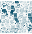 seamless hand drawn socks vector image vector image