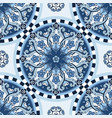 seamless ornamental background blue colored vector image