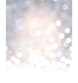 Shining background with snow vector image