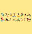 summer sport color set vector image vector image
