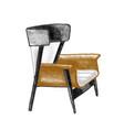 trendy retro armchair flat vector image