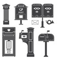 vintage street mail posts and letterboxes vector image vector image
