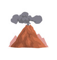 volcano eruption with dust cloud vector image vector image