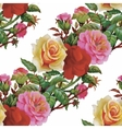 Watercolor seamless pattern with roses Background vector image vector image