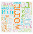 Worm Compost Bin text background wordcloud concept vector image vector image