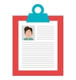 Business cv with male photograpy design vector image