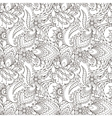 Seamless pattern of abstract flowers and paisley vector image