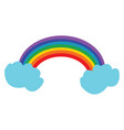 a beautiful rainbow or color vector image vector image