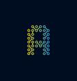 a circuit technology letter logo icon design vector image