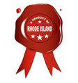 a product of rhode island vector image vector image