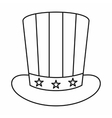 American hat icon outline style vector image