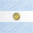 Argentina flag vector | Price: 1 Credit (USD $1)