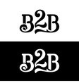 B2B logo design template on white and black vector image vector image