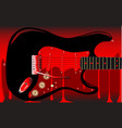 blood guitar vector image vector image