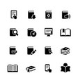 book icons black series vector image vector image