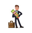 business man holds money vector image