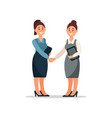 business people cooperation agreement handshake vector image vector image