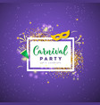 carnival colorful poster vector image vector image