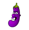 cartoon character of an eggplant vector image vector image
