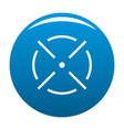 close radar icon blue vector image vector image
