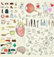 collection doodle design elements vector image