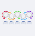 colorful gears infographic template vector image vector image