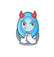 devil oxygen mask mascot cartoon vector image
