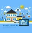 digital smart and digital home vector image vector image