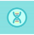DNA color flat icon vector image vector image
