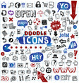 doodled icons vector image