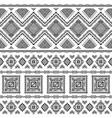 ethnic seamless monochrome pattern vector image vector image