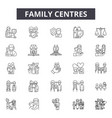 family centres line icons signs set vector image vector image