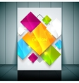 Fashion brochure flyer magazine cover vector image vector image