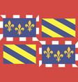 flag french region burgundy vector image vector image