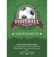Football tournament background Design with soccer vector image vector image
