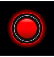 futuristic red button vector image