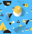 geometric house abstract shape flat yellow vector image