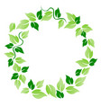 green leaf circle vector image vector image