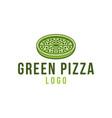 green pizza healthy food fast food logo designs vector image