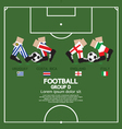 Group D 2014 Football Tournament vector image