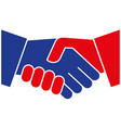 handshake icon design template vector image