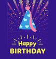 happy birthday celebration cap festive headwear vector image vector image