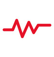 heart rate diagram icon outline style vector image vector image