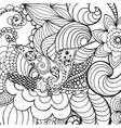 Hummingbird in fantasy garden vector image vector image